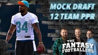 Fantasy Football 2016 - PPR Mock Draft Episode - Ep. #236