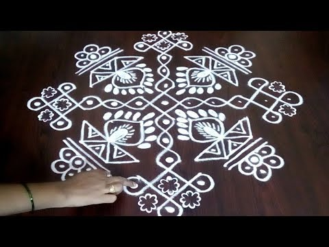 Chukkala Muggulu With 11 x 1 ||  Awesome Beautiful Rangoli Design ||  Big Kolam || Fashion World