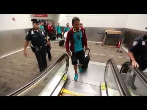 Departure and Arrival of Portugal National Team in USA