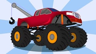 ☺ Tow Truck - Monster Truck and repair | For Children Part 1 ☺