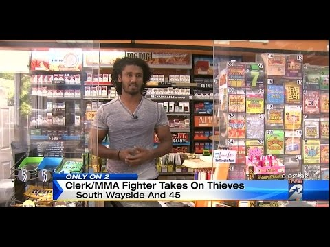 Awesome Sri Lankan MMA champion beats the hell out of two would-be thieves