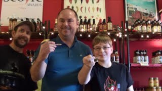 12-yr-old eats Chocolate Bhutlah hot sauce : Hot Sauce Review, Crude Brothers