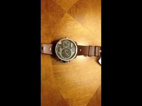 diesel watch 3 bar dz 7246 youtube. Black Bedroom Furniture Sets. Home Design Ideas