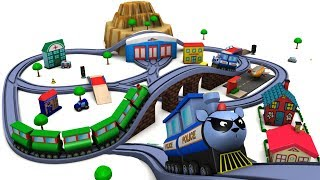 Police Car for Children - Police Cartoon - Train Videos - Sergent Cooper - Toy Factory - Toy Trains