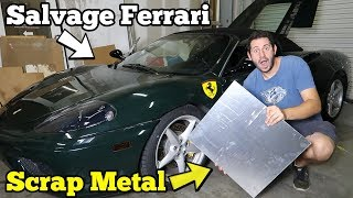 Rebuilding a TOTALED Ferrari's Undercarriage Damage Using $25 in SCRAP Aluminum!