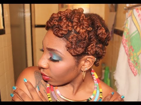 Natural Hair Quick Amp Easy Pin Curls W Twists Youtube