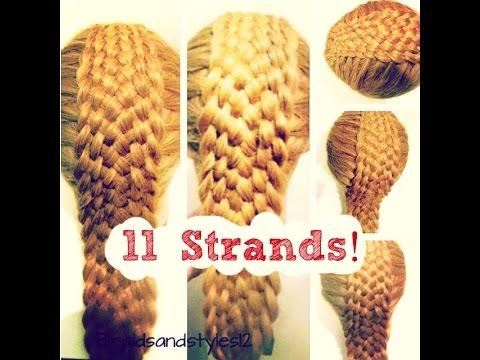 How To Do An 11 Strand Dutch Braid Hair Tutorial Youtube