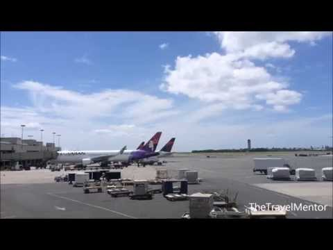 A view of the tarmac and surrounding areas at Honolulu International Airport HNL on Oahu, Hawaii