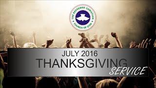 RCCG DUBAI July 2016 THANKSGIVING SERVICE