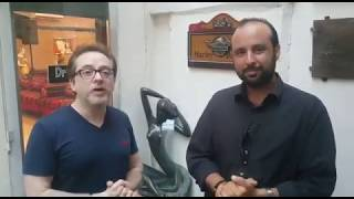 خاص بالفيديو - مروان خوري مع بيدرو غانم في كواليس التمرينات لمهرجانات غلبون لهذا العام