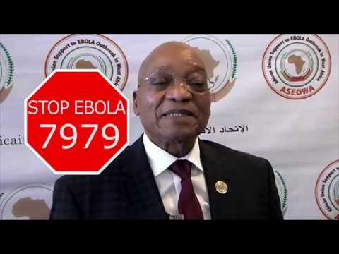 President Jacob Zuma endorsed the #AfricaAgainstEbola Campaign.