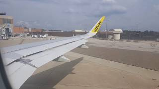 Take off from Akron canton airport on Spirit Airlines  A320 Neo (CAK-MCO)