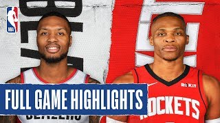 TRAIL BLAZERS at ROCKETS | FULL GAME HIGHLIGHTS | January 15, 2020