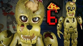 "SALVAGED SPRINGTRAP l FNAF6 l PIZZERIA SIMULATOR ""TUTORIAL"" ✔POLYMER CLAY ✔COLD PORCELAIN"