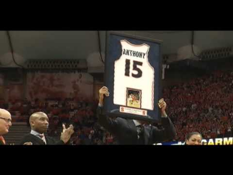 Carmelo Anthony's number 15 jersey retired by Syracuse
