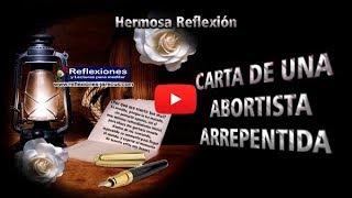 Carta de una abortista arrepentida - Reflexiones de familia