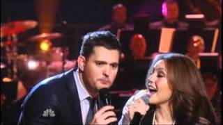 Watch Michael Buble Feliz Navidad Ft Thalia video