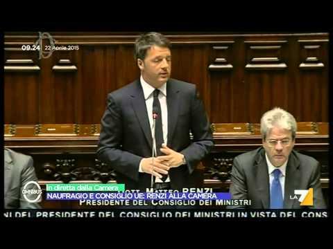Il discorso del premier Matteo Renzi alla Camera sulla strage dei migranti