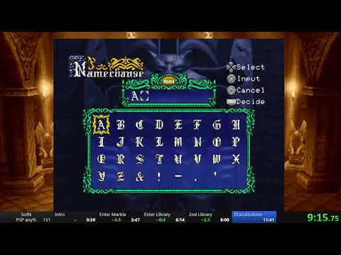Castlevania: Symphony of the Night, PSP speedrun in 11:37