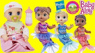 BABY ALIVE MERMAID SISTERS meet their NEW Real As Can Be Baby sister