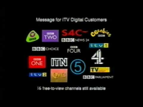 BBC Announcement regarding collapse of ITV Digital - 2002