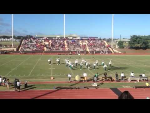 Kapaa High School Marching Band & Colorguard halftime show!!