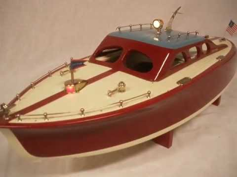 ITO cruiser JAPANESE 22in wood toy boat by R-C CRAFT - YouTube