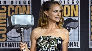 MCU GOES SJW- Tiny Natalie Portman Just Got Handed Thor's Hammer...And Her Arm Is ALREADY Tired