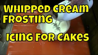 How to Make Whipped Cream Icing Real Time | Chox Decorates #18