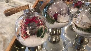DIY Dollar Store Christmas Scenery Ornaments 2018