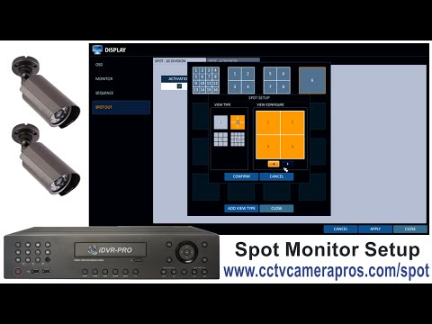 CCTV Spot Monitor Output for iDVR PRO Surveillance DVR