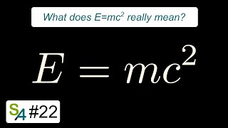 What does E=mc² really mean? Relativity 22