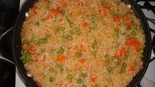 Arroz Rojo a la Mexicana/ Authentic Mexican Rice Recipe