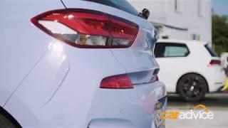 DRAG RACE: Hyundai i30N v Volkswagen Golf GTI