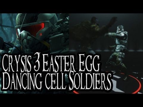 Crysis 3 Easter Egg - Dancing Cell Soldiers in Nanosuit Showroom