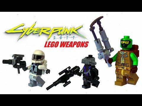 5 COOL LEGO Cyberpunk 2077 CUSTOM WEAPONS TUTORIAL - LEGO MOC/ Cyberpunk 2077 MOC