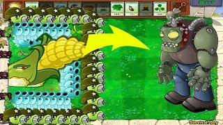 1 Cob Cannon vs Gatling Pea vs Snow Pea - Hack Plants vs Zombies