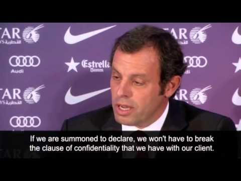 Barcelona president denies wrongdoing in Neymar transfer -- video