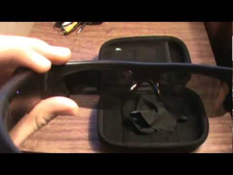 Active I hidden spy sunglasses camera footage and review with lcd monical viewer screen
