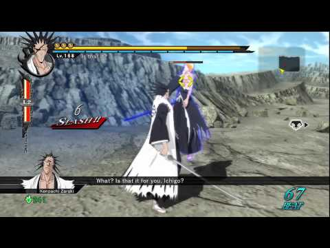 Bleach Soul Resurreccion - Kenpachi Vs Final Ichigo  Aizen[HD]