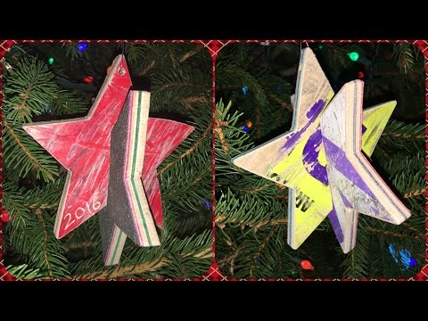 Recycled Skateboard Christmas Ornaments