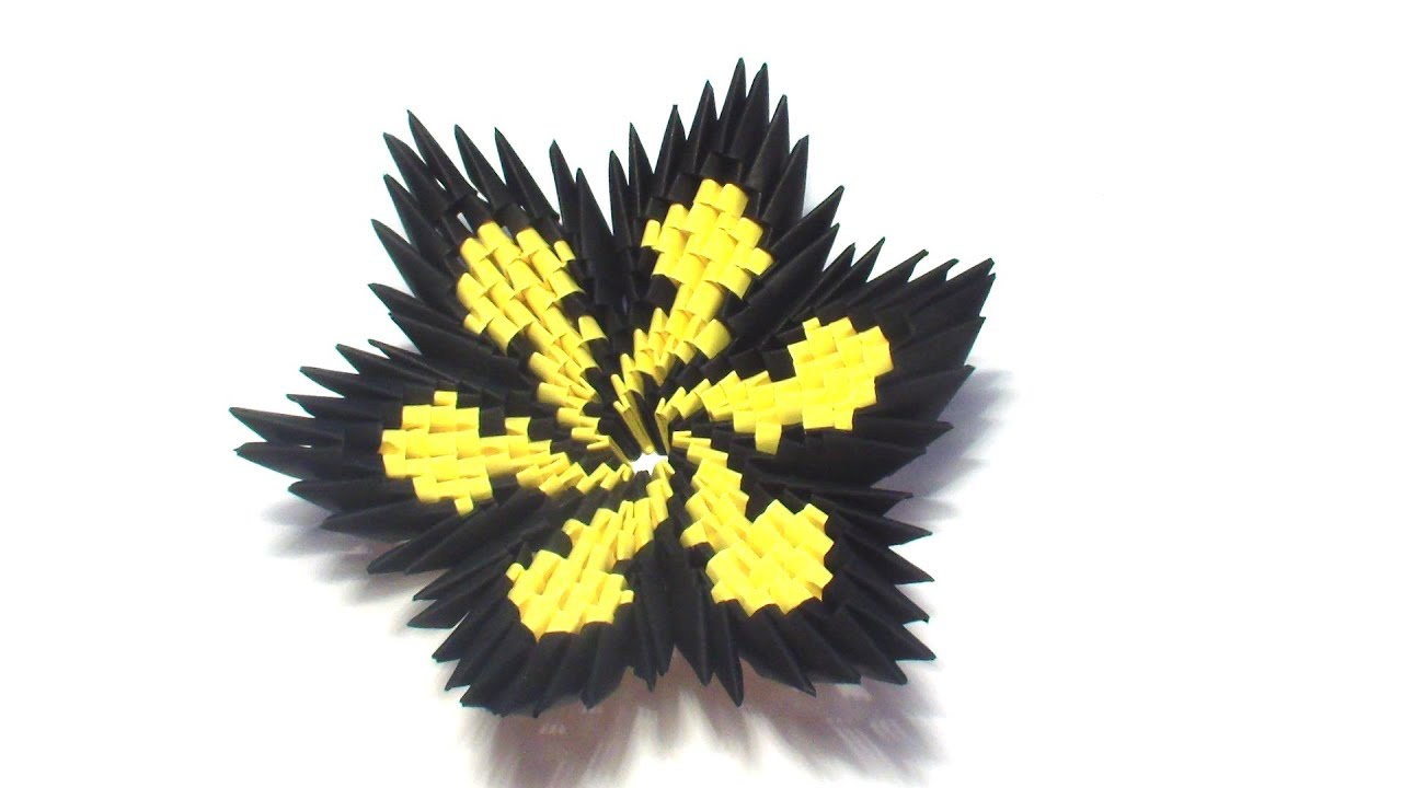 Оригами из треугольных модулей схемы лотос