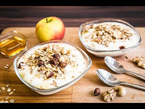Apfel Nuss Joghurt Vegetarisch / Rezept / gesunde Ernährung