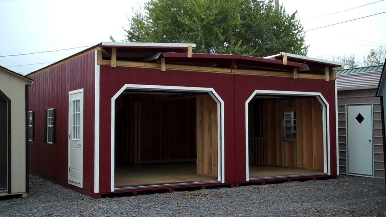 2 story 2 car modular garage youtube for Mobile home garage kits