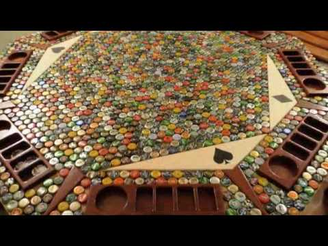Amazing bottle cap poker table youtube for How to make a table out of bottle caps