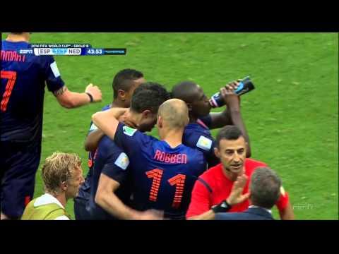 Robin van Persie goal vs. Spain