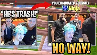 Ninja Gets Roasted Irl By Lupo And Tim Then Loses The Game Because Of Them Fortnite Funny