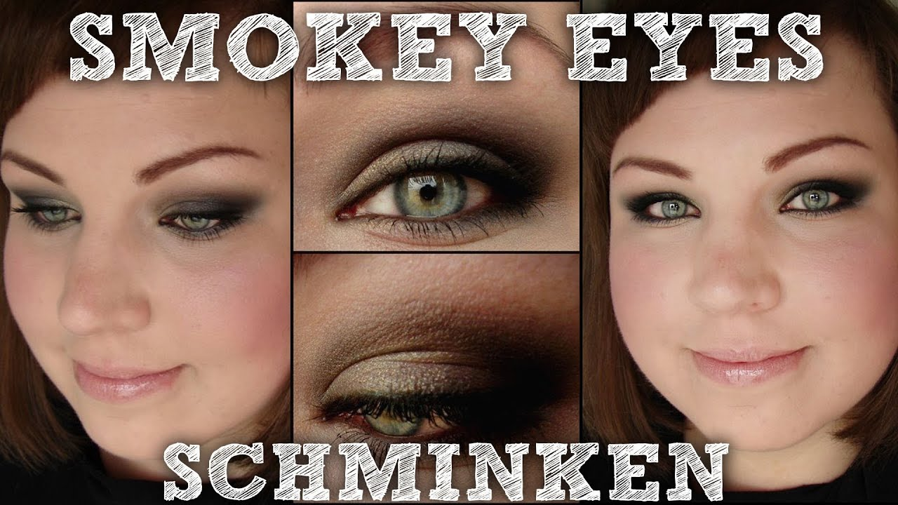 smokey eyes schminken einfaches makeup tutorial mit. Black Bedroom Furniture Sets. Home Design Ideas
