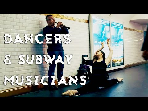 DANCERS SURPRISE MUSIC PERFORMERS IN PARIS SUBWAY
