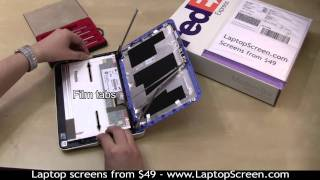 Netbook screen repair, how to replace an LCD screen on a Netbook/Laptop [Dell Mini 10]